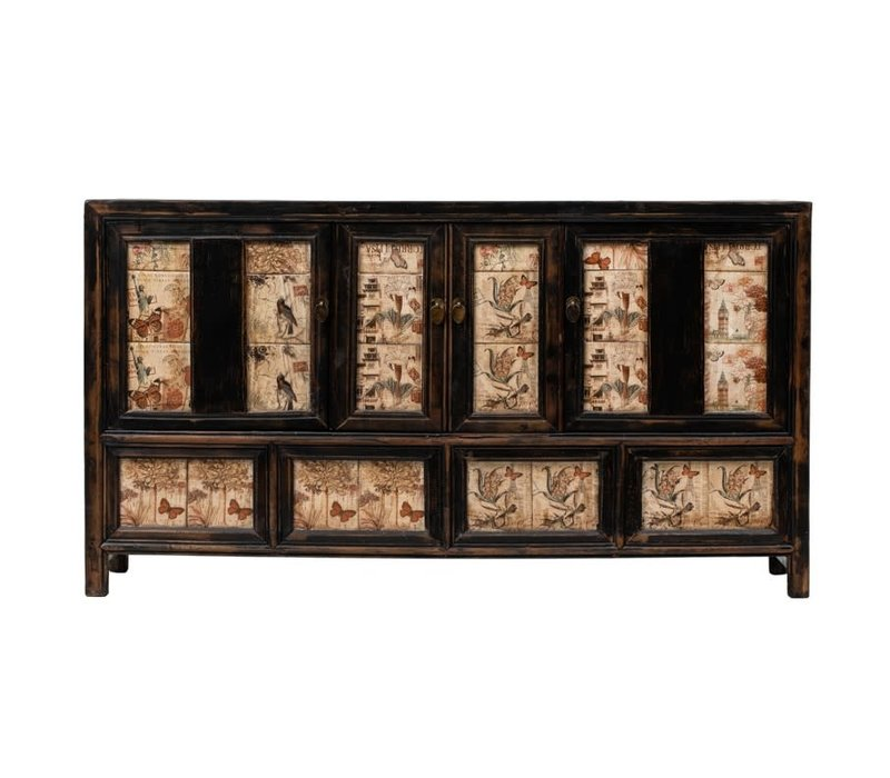 PREORDER 28/12/2020 Antique Chinese Sideboard Handpainted W157xD39xH86cm