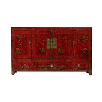 Antieke Chinese Dressoir Handgeschilderde Bloemen B155xD40xH93cm - Dongbei, China
