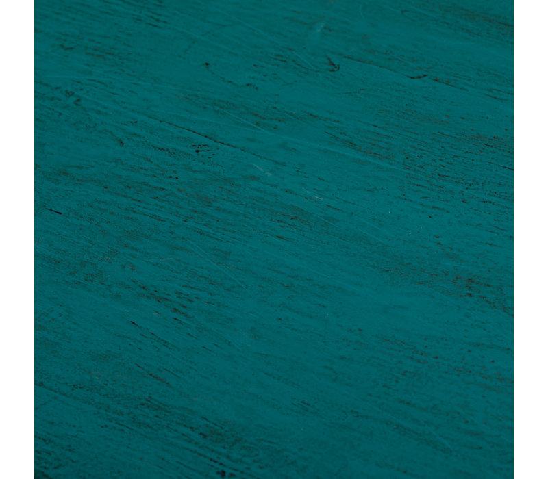 Commode Chinoise Papillons peints à la Main Bleu Canard L140xP40xH80cm