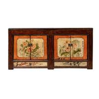 Antieke Chinese Dressoir Bloemen Handgeschilderd B160xD45xH87cm