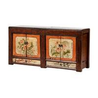 Antieke Chinese Dressoir Handgeschilderde Bloemen B160xD45xH87cm