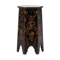 Antique Tibetan Plant Stand Hand-painted Dragons W45xD45xH81cm
