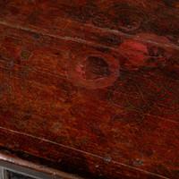 Antieke Tibetaanse Plantentafel Draken Handgeschilderd B45xD45xH81cm