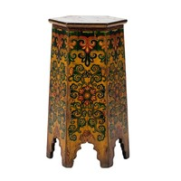 PREORDER 28/12/2020 Antique Tibetan Plant Stand Handpainted Flowers W45xD45xH81cm