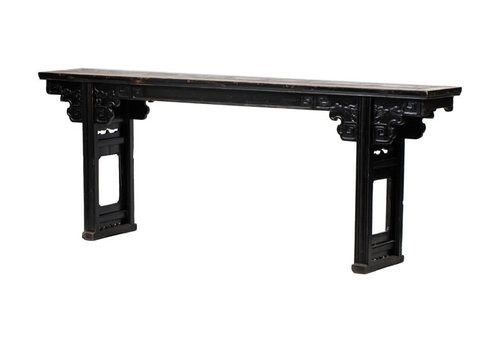 Fine Asianliving Antique Chinese Altar Table Handcarved W253xD42xH97cm