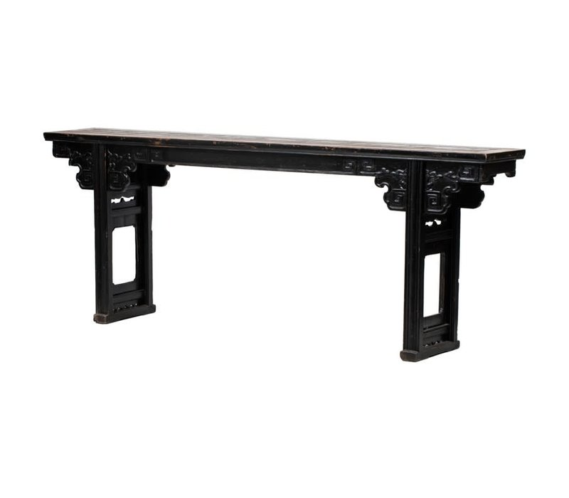 PREORDER 28/12/2020 Antique Chinese Altar Table Handcarved W253xD42xH97cm