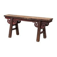 PREORDER 28/12/2020 Antique Chinese Bench Handcarved W124xD20xH53cm