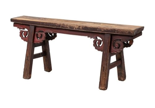 Fine Asianliving PREORDER 28/12/2020 Antique Chinese Bench Handcarved W124xD20xH53cm