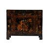Fine Asianliving Armadio Cinese Antico Fiori Dipinti a Mano L87xP39xA69cm