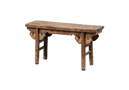 Fine Asianliving PREORDER 28/12/2020 Antique Chinese Bench Handcarved W110xD25xH50cm
