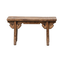 PREORDER 28/12/2020 Antique Chinese Bench Handcarved W110xD25xH50cm