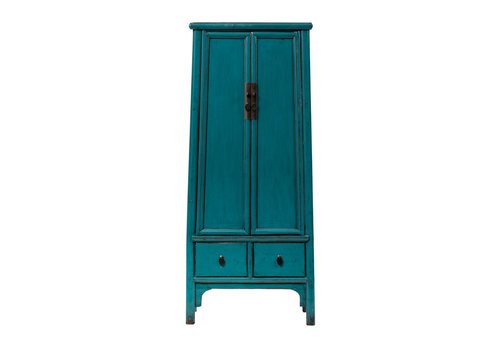 Fine Asianliving PREORDER 28/12/2020 Antique Chinese Cabinet Glossy Aqua Blue W70xD45xH190cm