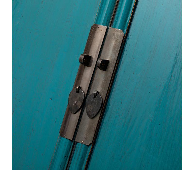 PREORDER 28/12/2020 Antique Chinese Cabinet Glossy Aqua Blue W70xD45xH190cm