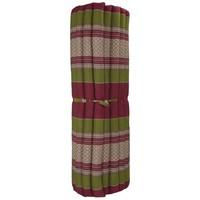Thaise Mat Oprolbaar Matras 200x100x4.5cm Bordeaux Groen