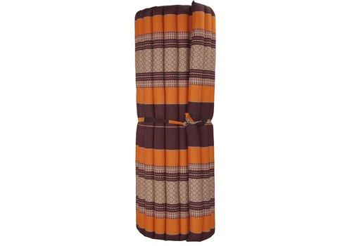Fine Asianliving Thai Mat Rollable Mattress 200x100x4.5cm Mat Burgundy Orange
