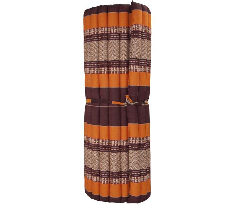 Thaise Mat Oprolbaar Matras 200x100x4.5cm Bordeaux Oranje