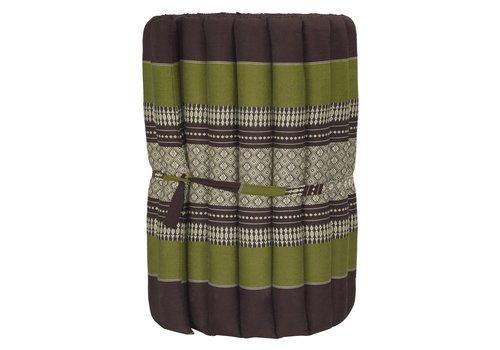 Fine Asianliving Thai Rollmatte Rollmatratze aus Kapok 190x50x4.5cm