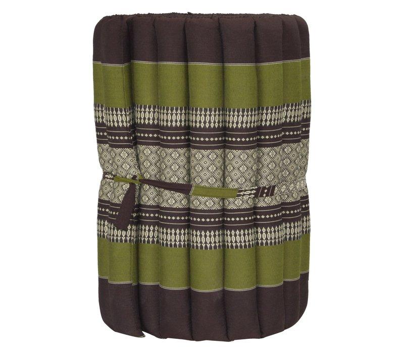 Thaise Mat Oprolbaar Matras 190x50x4.5cm Groen