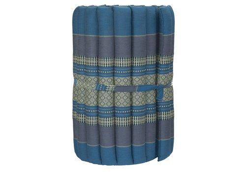 Fine Asianliving Thaise Mat Oprolbaar Matras 190x50x4.5cm Hemels Blauw