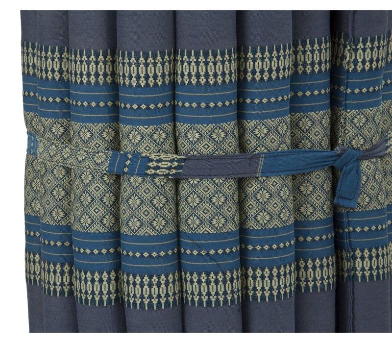Thaise Mat Oprolbaar Matras 190x50x4.5cm Hemels Blauw