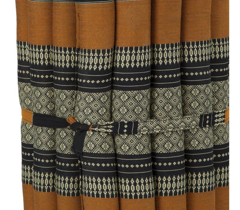 Thaise Mat Oprolbaar Matras 190x50x4.5cm Zwart Oranje