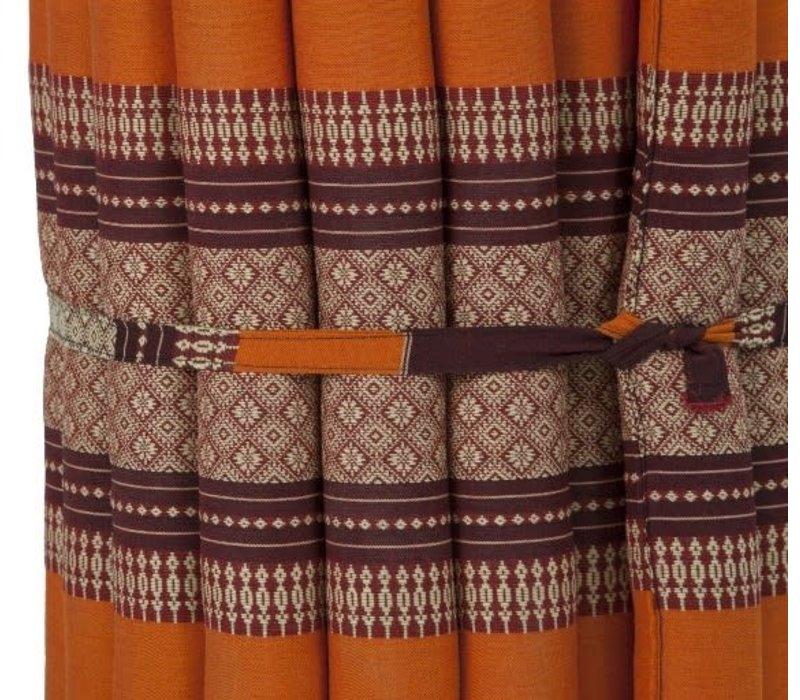 Thaimatte Rollbar Kapokfüllung 190x50x4.5cm Burgund orange