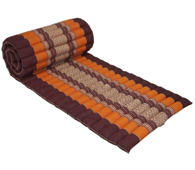 Thaise Mat Oprolbaar Matras 190x50x4.5cm Bordeaux Oranje