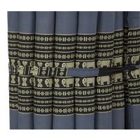 Colchón Tailandés Enrollable 190x50x4.5cm Negro Elefante