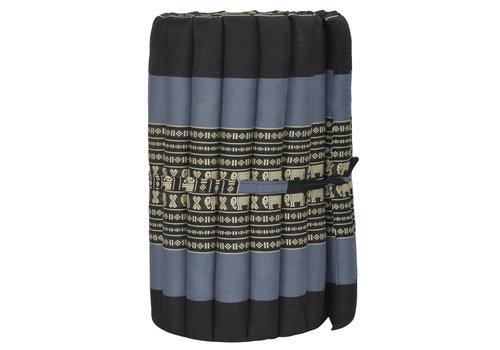 Fine Asianliving Matelas Thaï Enroulable en Coton et Kapok - 50x190cm - Noir