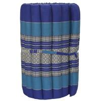 Thai Mat Rollable Matress 190x50x4.5cm Ocean Blue