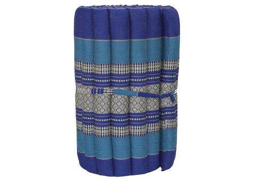 Fine Asianliving Thaimatte Rollbar Kapokfüllung 190x50x4.5cm Ocean Blue
