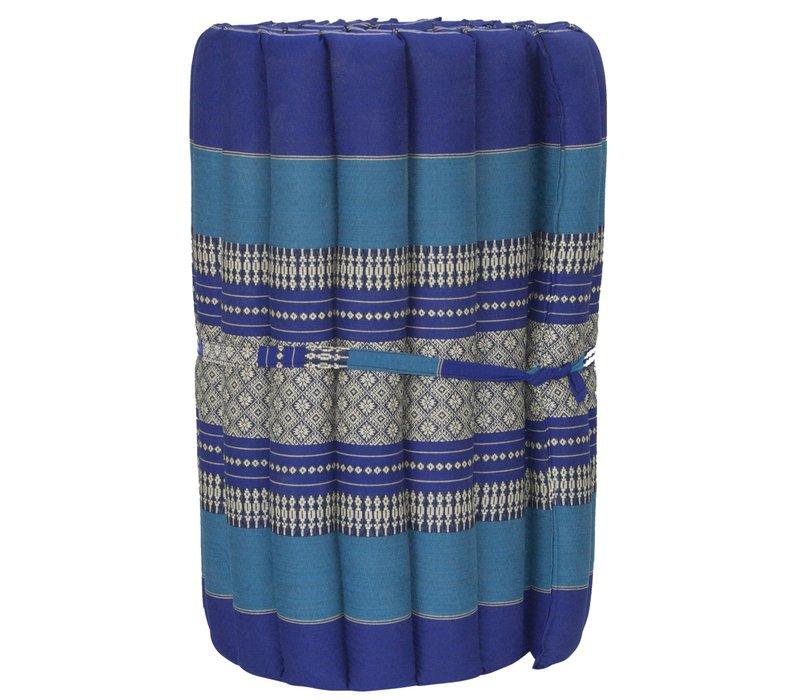 Materasso Arrotolabile Thai 190x50x4.5cm Blu Oceano