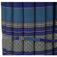 Thaise Mat Oprolbaar Matras 190x50x4.5cm Oceaan Blauw