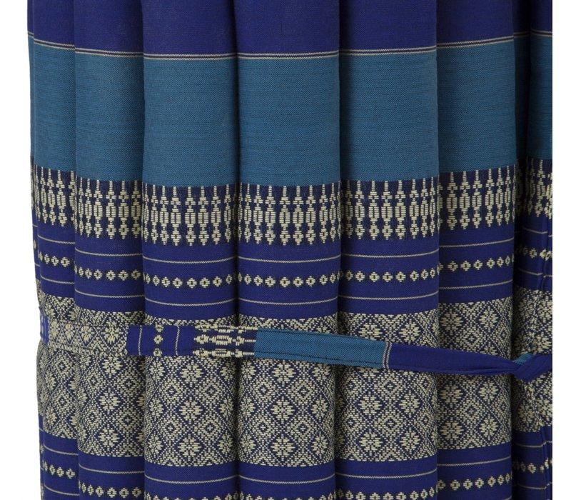 Matelas Thaï Enroulable en Coton et Kapok - 50x190cm - Azuré