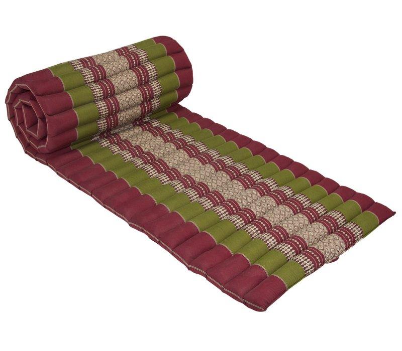 Materasso Arrotolabile Thai 190x50x4.5cm Rosso Verde