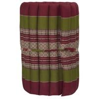 Matelas Thaï Enroulable en Coton et Kapok - 50x190cm - Rouge Vert