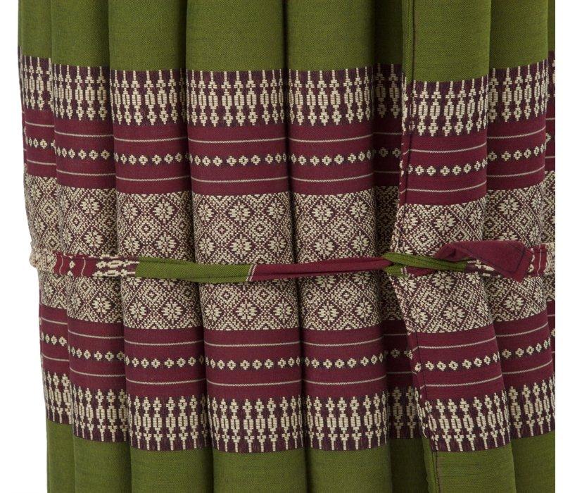 Thaise Mat Oprolbaar Matras 190x50x4.5cm Bordeaux Groen