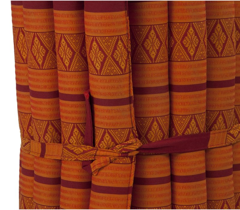 Thaise Mat Oprolbaar Matras 190x50x4.5cm Oranje