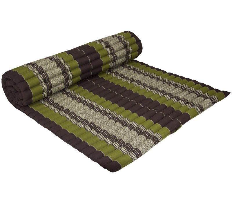 Thaise Mat Oprolbaar Matras 200x100x4.5cm Groen