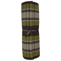 Thaimatte Rollbar Kapokfüllung 200x100x4.5cm Grün