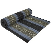 Thaise Mat Oprolbaar Matras 200x100x4.5cm Zwart