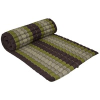 Thai Meditation Mat Rollable Mattress 80x200cm Yoga Kapok-Filling Green