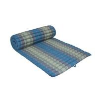 Thai Meditation Mat Rollable Mattress 80x200cm Yoga Kapok-Filling Blue