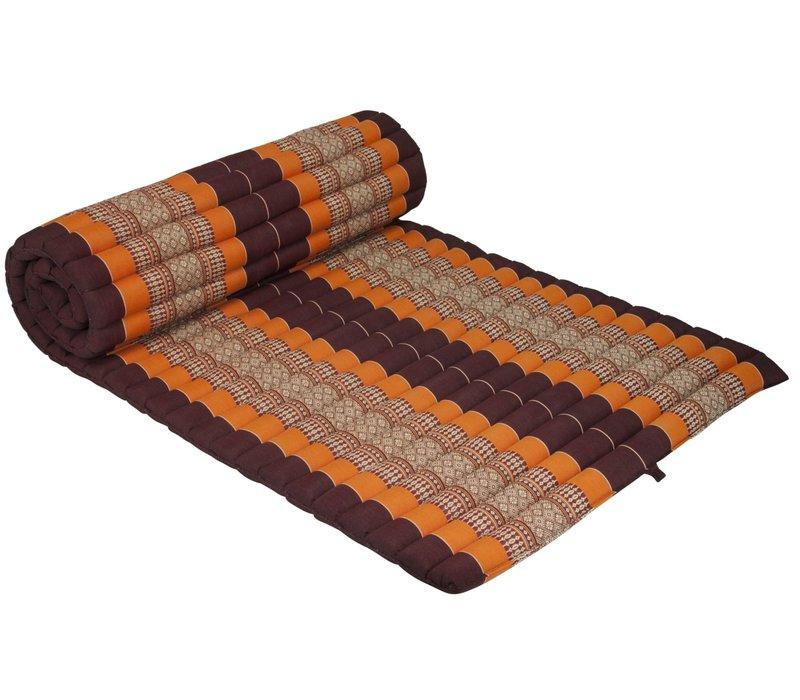 Thai Mat Rollable Matress 190x78x4.5cm Mat Cushion Burgundy Orange
