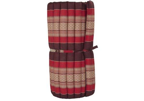 Fine Asianliving Thai Mat Rollable Mattress 190x78x4.5cm Mat Cushion Burgundy Red