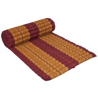 Thai Mat Rollable Matress 190x78x4.5cm Mat Cushion Thai Orange