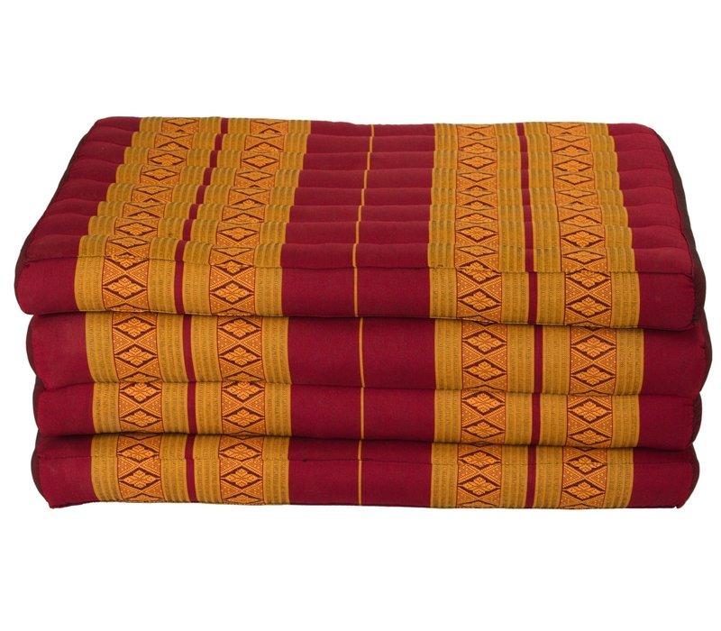 Thai Cushion Mattress 4-folded 80x200cm Mat Cushion XXXL Thai Orange