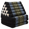 Fine Asianliving Thai Triangle Cushion Mattress Foldable XL Black Elephants