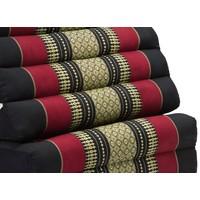 Thais Kussen Meditatie Driehoek Vloer Ligmat Yoga Uitklapbaar Kapok Rood XL