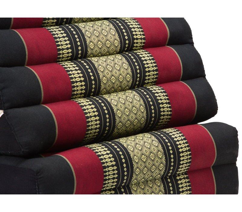 Thaikissen Dreieckskissen 3 Auflagen Kapokfüllung XL Rot